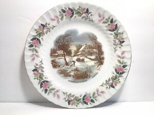 """Beautiful Creative Fine China """" The Homestead In Winter"""" Currier & Ives Plate"""