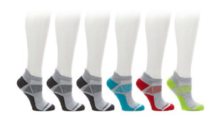 Copper Fit™ 6 Pair Unisex Sport Performance Socks Size S//M