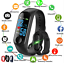 M3S-Blood-Pressure-Oxygen-Heart-Rate-Monitor-Smart-Wrist-Band-Bracelet-Watch-US thumbnail 1