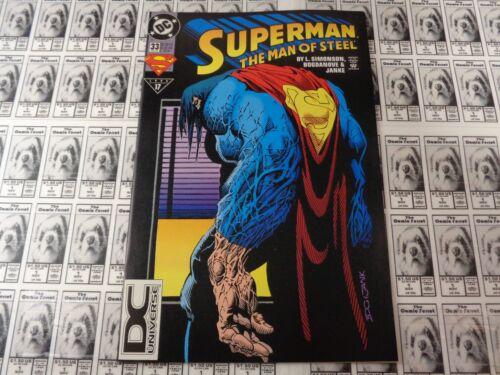 DC DC Universe Logo UPC Variant CVR NM// 1991 Superman Man of Steel #33