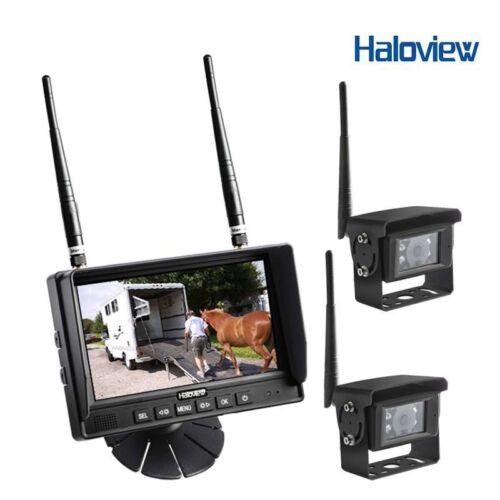 "HALOVIEW MC7101-2 7/"" DIGITAL WIRELESS BACKUP CAMERA SYSTEM WITH 2 CAMERAS"