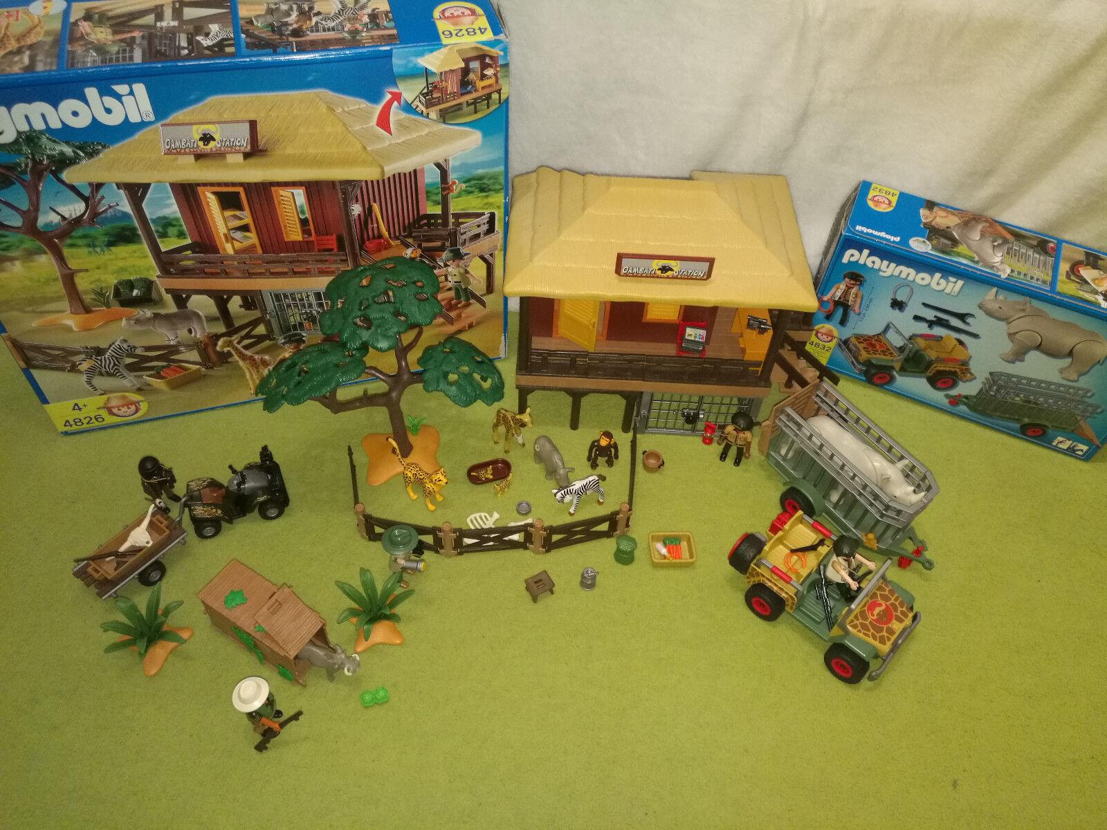 Playmobil Safari Wildtierpflegestation 4826, OVP. Sehr guter Zustand