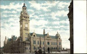 Sheffield-Yorkshire-England-1910-20-Town-Hall-Gebaeude-Building-Turm-Tower-Uhr