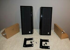 Vienna-Acoustics-Waltz-Grand-Stereo-Speakers-Piano-Black-w-mounts-gold-connects