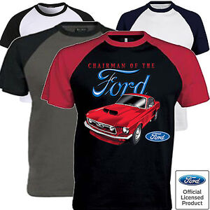 Uomo-Ford-Mustang-T-Shirt-con-Licenza-Ufficiale-Chairman-American