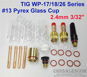 """10 pcs TIG Welding Stubby Gas Lens #10 Pyrex Cup Kit  for Tig WP-17//18//26  .040/"""""""