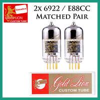 2x Genalex Gold Lion 6922 / E88cc / 6dj8 | Matched Pair / Duet / Two Tubes