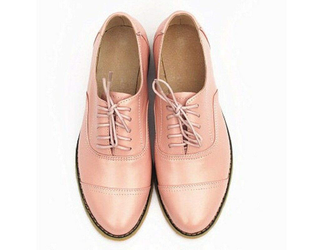 8 Color Color 8 Donna New Lace Oxfords Cap Toe Lace New Up Round Toe Casual   8a63cc