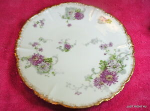 "Jean Pouyat Limoges JPL (Scalloped Floral) 9 5/8"" DINNER PLATE(s) EUC (2 avail)"