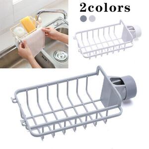 Kitchen-Sink-Faucet-Sponge-Soap-Cloth-Drain-Rack-Holder-Racks-Storage-Organizer
