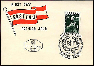 Useful Austria 1969 Int Labour Org Fdc Card #c36281 Harmonious Colors