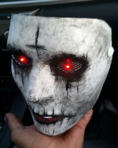image is loading the purge anarchy custom painted mask with light - Purge Anarchy Masks For Halloween