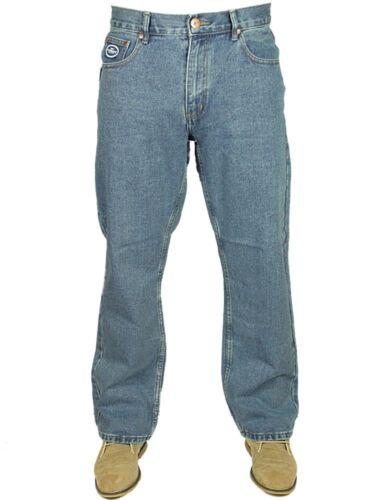 Jeans da Uomo Nuovo con etichetta con logo Work Wear Smart Casual 3 Colori Grande Taglie 30 a 60 vendita