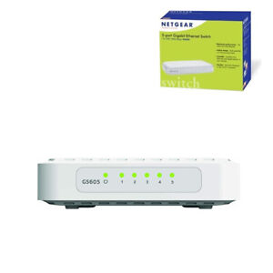 NETGEAR ProSafe Network Switch 5 Port Gigabit Unmanaged Hub Ethernet Splitter