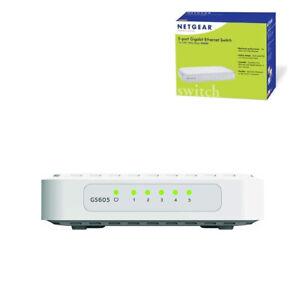NETGEAR-ProSafe-Network-Switch-5-Port-Gigabit-Unmanaged-Hub-Ethernet-Splitter