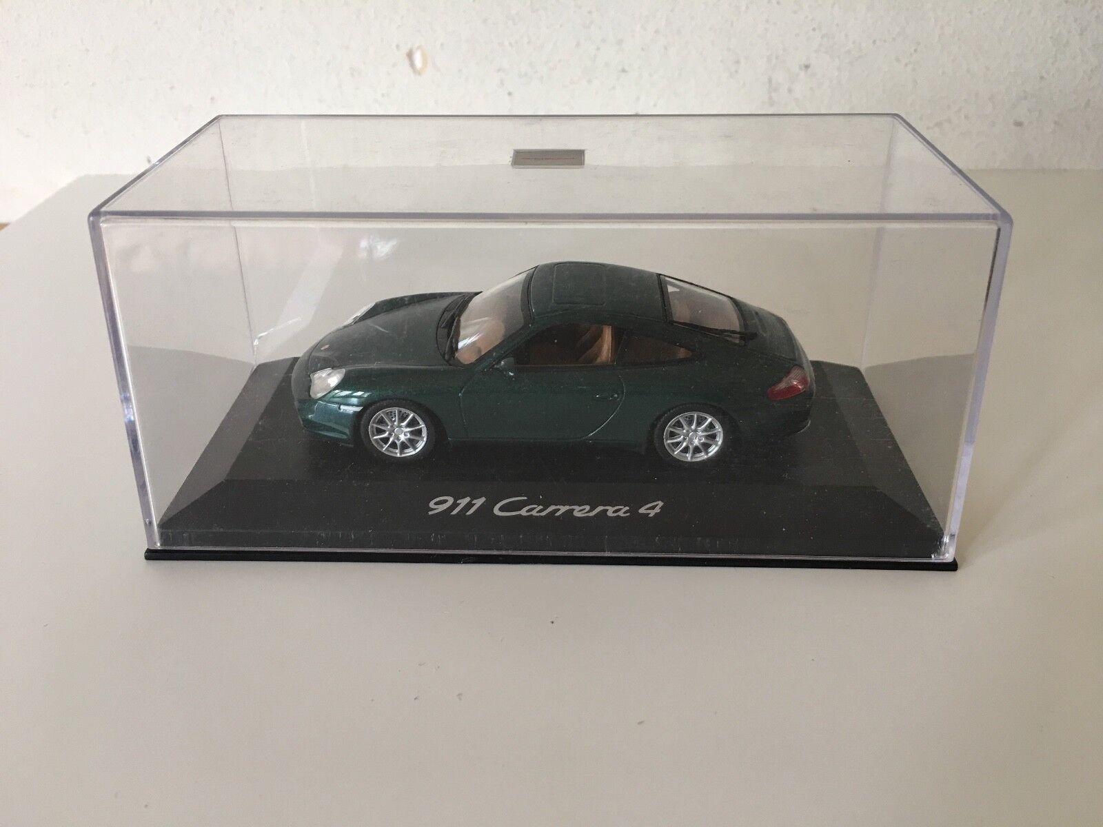 Used Like Neu - Car Miniature Porsche 911 Carrera 4 Auto Miniatur - Gebraucht