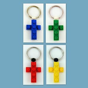 4-48-Lot-Key-Ring-w-Custom-LEGO-Mini-Cross-Pendant-Birthday-Party-Favor