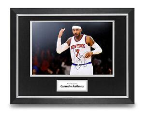 Carmelo-Anthony-Signed-16x12-Framed-Photo-Display-Basketball-Autograph-COA