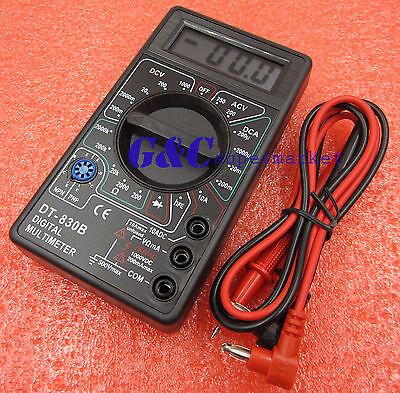 Digital Multimeter AC DC Voltmeter Ohmmeter Electrical Multi Tester DT-830B M131