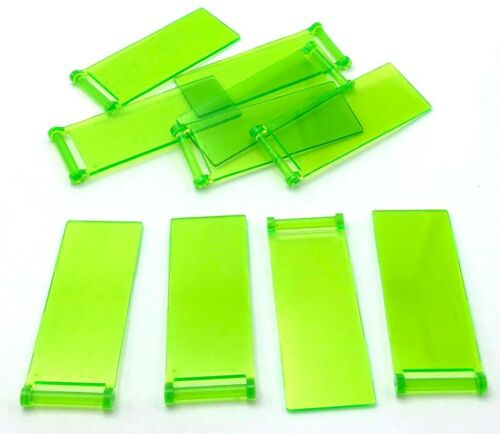 Lego 10 New Trans-Bright Green Flag 7 x 3 with Rod Pieces