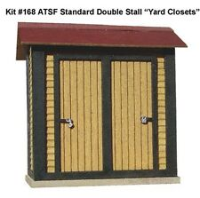 American Model Builder Laser Cut Wood HO ATSF Double Stall Yard Closets 168