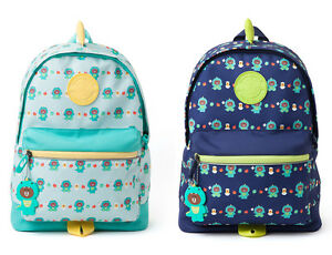 Line Friends Dino Brown Pattern Kids Backpack Silicone
