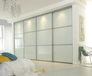 Pure White 3 Panel Sliding Wardrobe 3 Door To Suit An Opening 2550w X 2300h Ebay