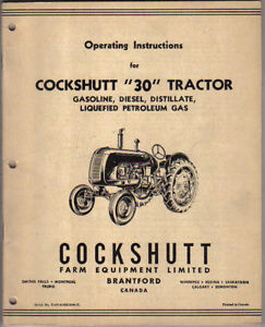 Cockshutt-30-Tractor-Original-Operating-Instructions-Handbook-not-dated
