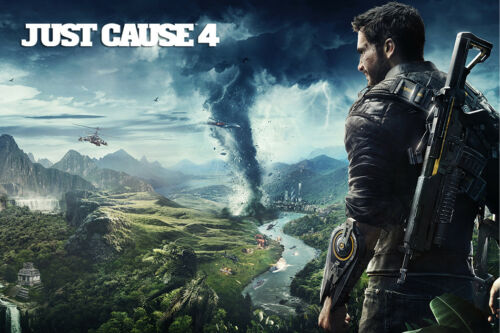 """Just Cause 4 Game Art Poster 48x32/"""" 36x24/"""" 21x14/"""" Video Game 2018 Silk"""