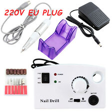OPHIR 220V Pro Nail Drill Electric Machine for Nail Art  with 6x Nail Drill Bits