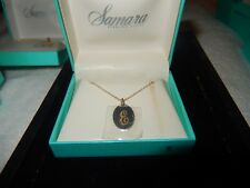 "New Samara 925 STERLING SILVER Musical Treble Clef Pendant Necklace 18/"" Box $60"