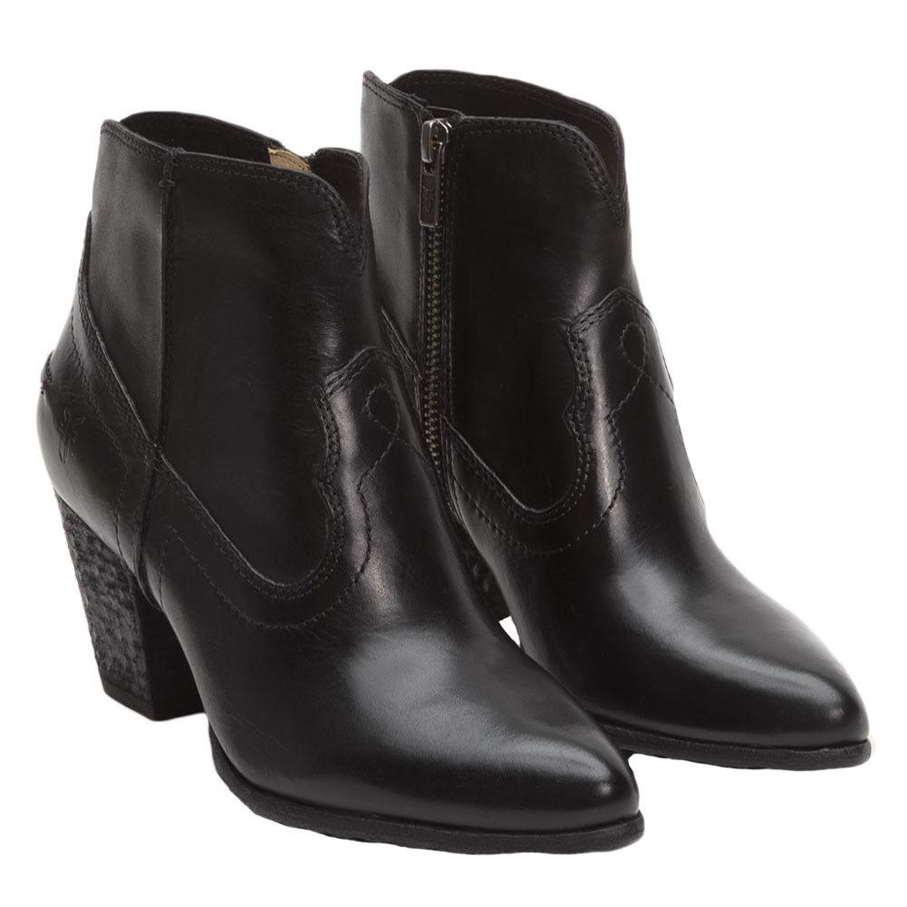 Nuevo con con con etiquetas Frye Renee Costura De Cuero Corto botín botín, estilo  72065, Negro Talla 8.5M  Sin impuestos