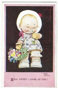 Artist-Mabel-Lucie-Attwell-039-Real-Sweet-Same-As-You-039-Vintage-Postcard-22-2