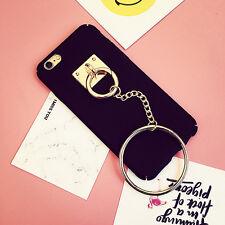 Bling Golden Pendant Chain Ring Holder Stand Soft Case Cover DIY For Cell Phone