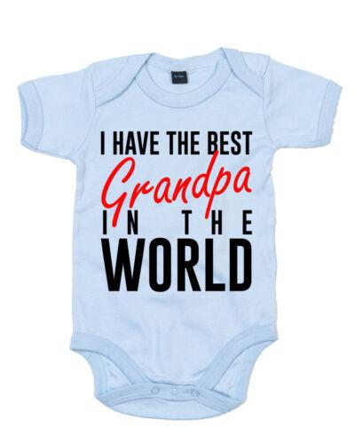Baby Grow Bodysuit Best Grandpa In The World 0-18months