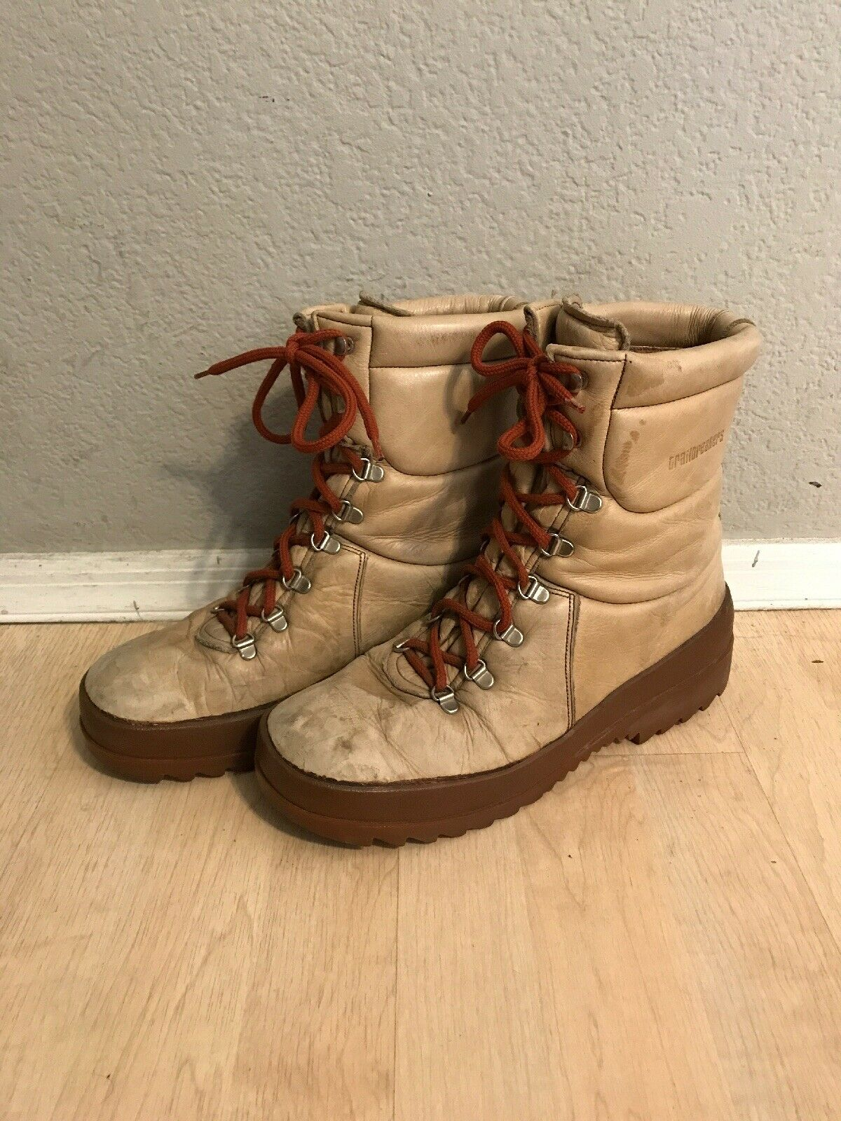 VINTAGE MENS TRAILBREAKERS SKYWALK SKYWALK SKYWALK HIKING BOOTS - SIZE 10 M, MADE IN ITALY RARE 6ba141