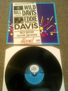 WILD BILL DAVIS / EDDIE 'LOCKJAW' DAVIS - LIVE! LP / ORIGINAL FRENCH BLACK BLUE