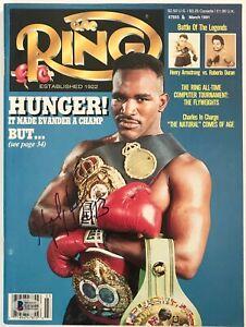 Evander-Holyfield-signed-the-ring-magazine-heavyweight-champ-beckett-coa
