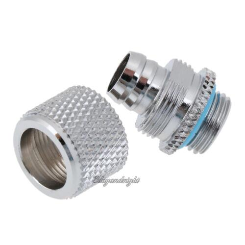 Fitting G1//4 External Thread for 9.5 X 12.7 mm PC Water Cooling System Tube Flat