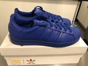 new styles 8a2c8 e78a5 Image is loading Adidas-Superstar-Supercolor-Pharrell-Williams-Bold-Blue -Size-