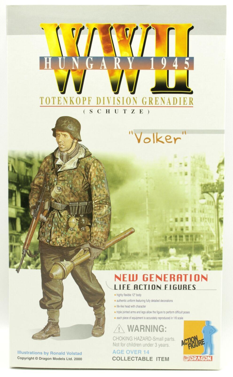 WWII Volker Totenkopf Division Grenadier Hungary 1945 Dragon 12  Figure