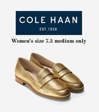 d0d52e20a0e7 Cole Haan Women s size 7.5 Medium Pinch Grand Penny Loafer in Gold Metallic