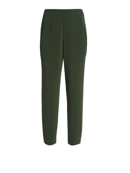 W By Worth TECH CHANDRA Olive Green Pull On Jogger Tuxedo PANT Size Medium C4