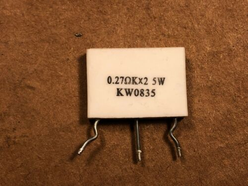 Marantz .27 ohm x2 5 watt 5W KW0835 Metal Plate Dual Bias Resistor for Amplifier
