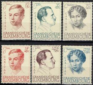 Lussemburgo LUXEMBOURG 1939 Caritas dinastia frase posta FRESCHI MNH ** kw:50 €