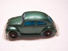 """1960's Green Volkswagen VW Beetle 1200 Plastic Hong Kong 1/43 Scale 3"""""""