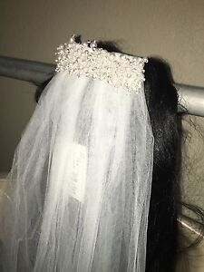 Davids-Bridal-One-Tier-Cathedral-Veil-with-Pearl-Comb-White-GR002-NWT-129