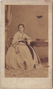Second Empire Donna Robe Foto CDV Da Nipote Parigi Vintage Albumina Ca 1860