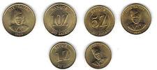 ZAIRE: 3 DIFF. UNCIRC. 1980S COINS, 1, 5 & 10 ZAIRES