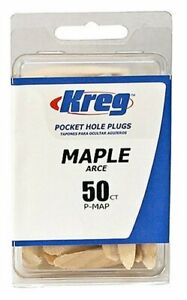 Kreg-P-MAP-Solid-Wood-Pocket-Hole-Plug-Maple-50Ct